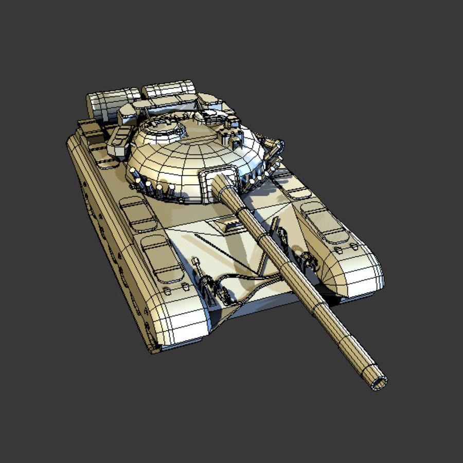 T72 Tank royalty-free 3d model - Preview no. 8