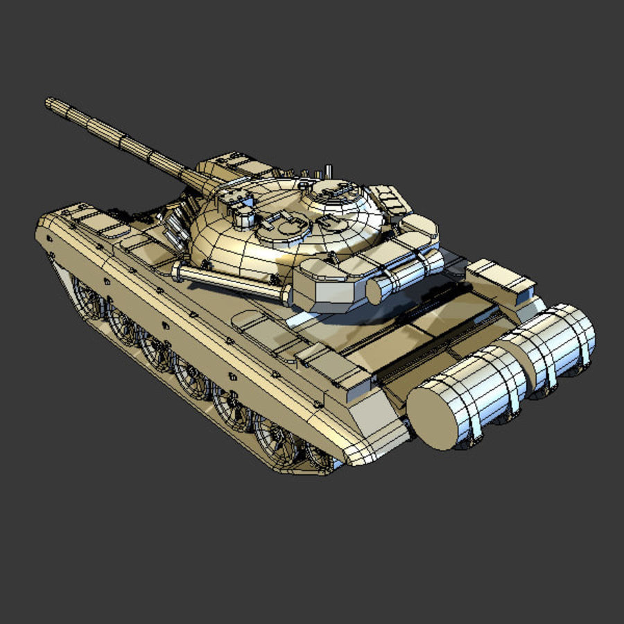 T72 Tank royalty-free 3d model - Preview no. 7