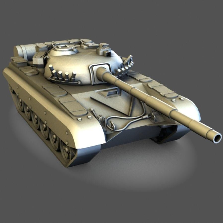 T72 Tank royalty-free 3d model - Preview no. 2