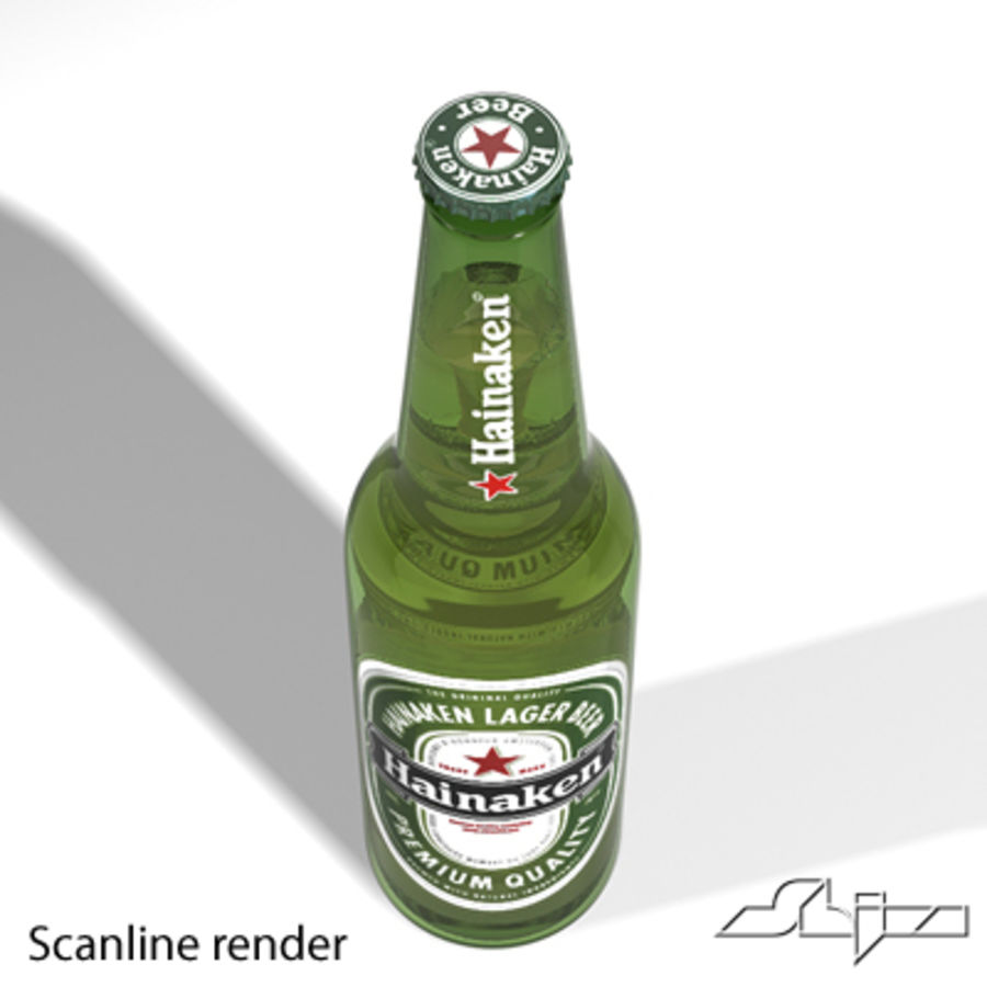 beer bottle heineken royalty-free 3d model - Preview no. 6