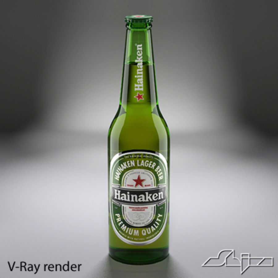 beer bottle heineken royalty-free 3d model - Preview no. 3