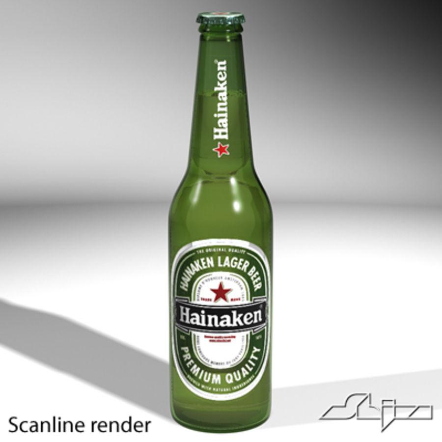 beer bottle heineken royalty-free 3d model - Preview no. 2