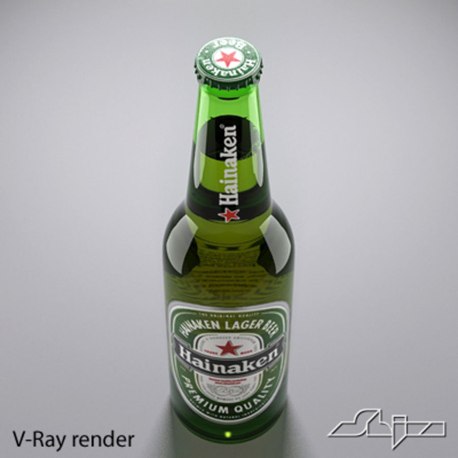 beer bottle heineken royalty-free 3d model - Preview no. 5
