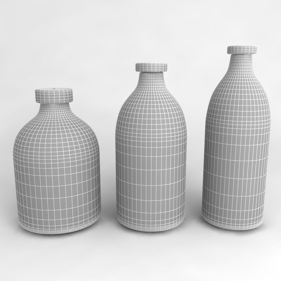 Bottles Collection royalty-free 3d model - Preview no. 37