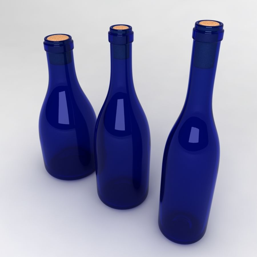 Bottles Collection royalty-free 3d model - Preview no. 14