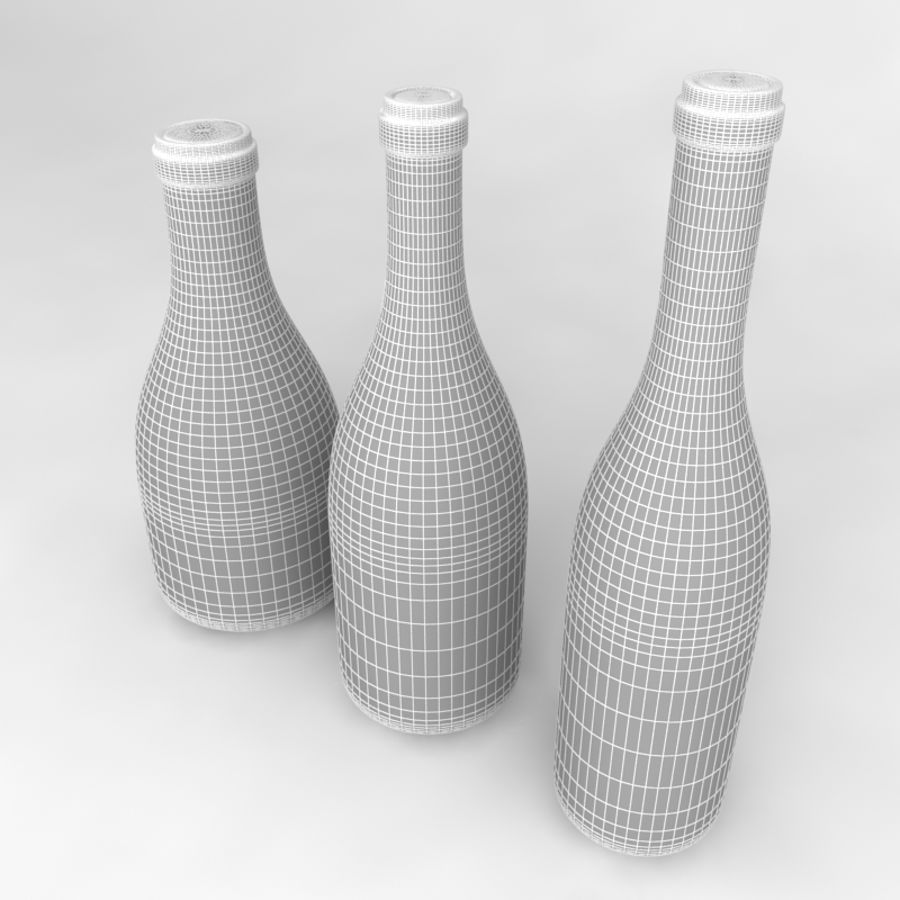 Bottles Collection royalty-free 3d model - Preview no. 44