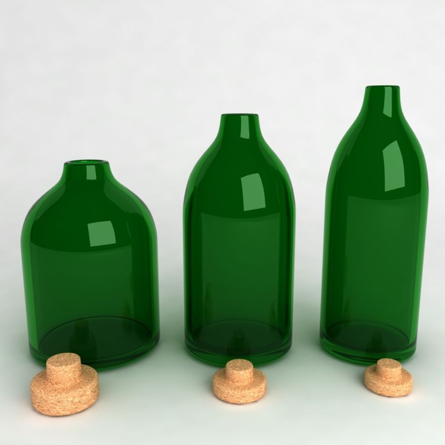 Bottles Collection royalty-free 3d model - Preview no. 11