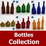Collection de bouteilles 3d model