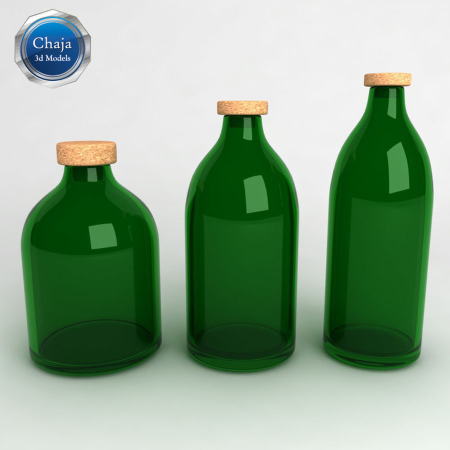 Bottles Collection royalty-free 3d model - Preview no. 7