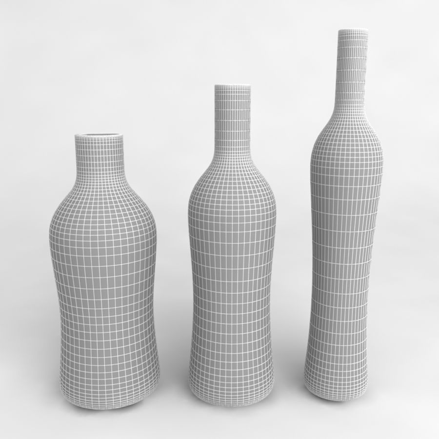 Bottles Collection royalty-free 3d model - Preview no. 57