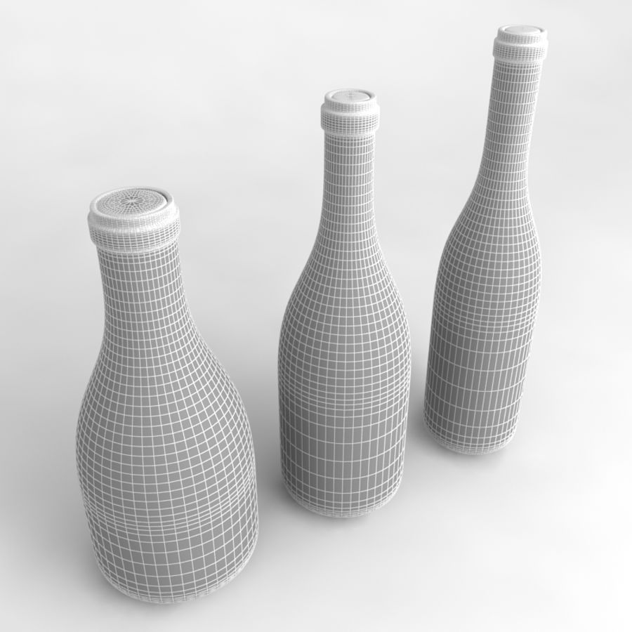 Bottles Collection royalty-free 3d model - Preview no. 43