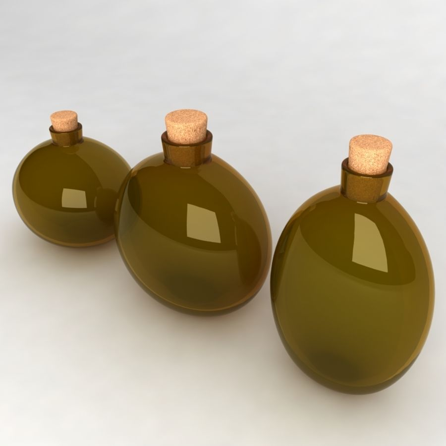Bottles Collection royalty-free 3d model - Preview no. 21