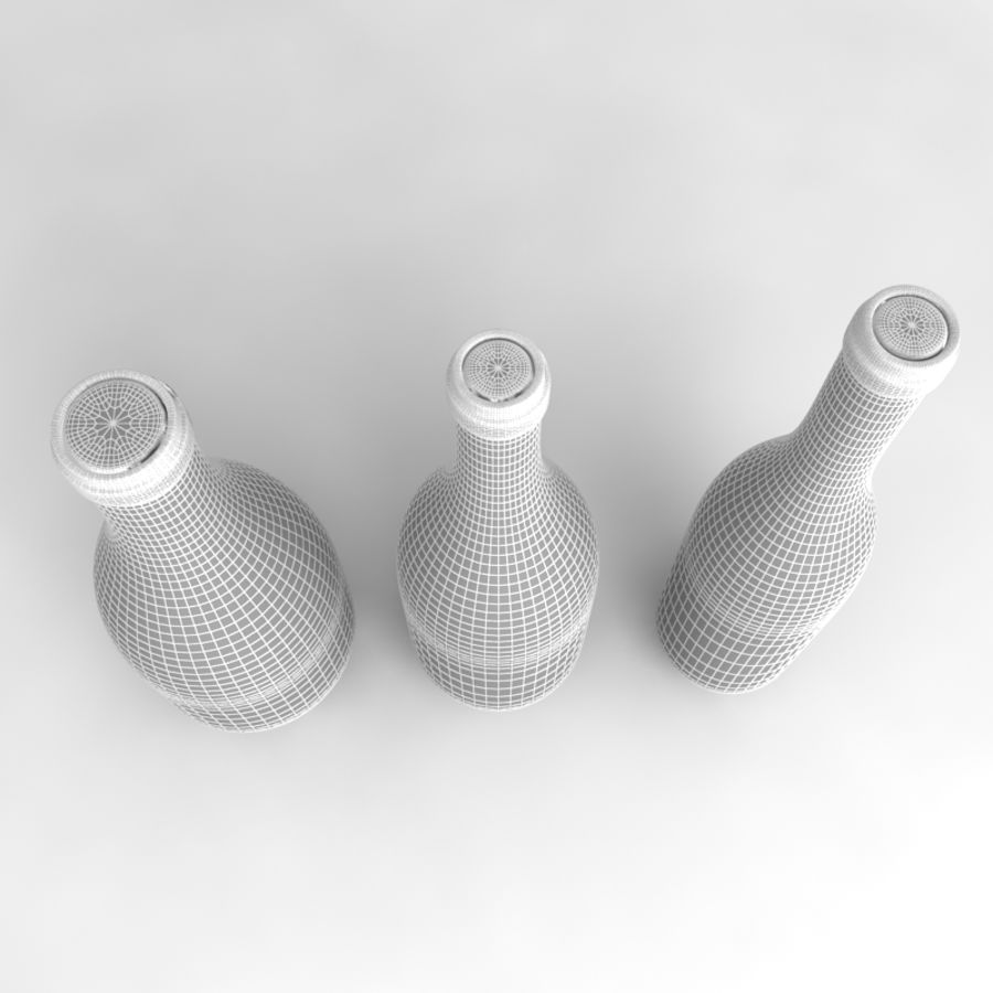 Bottles Collection royalty-free 3d model - Preview no. 45