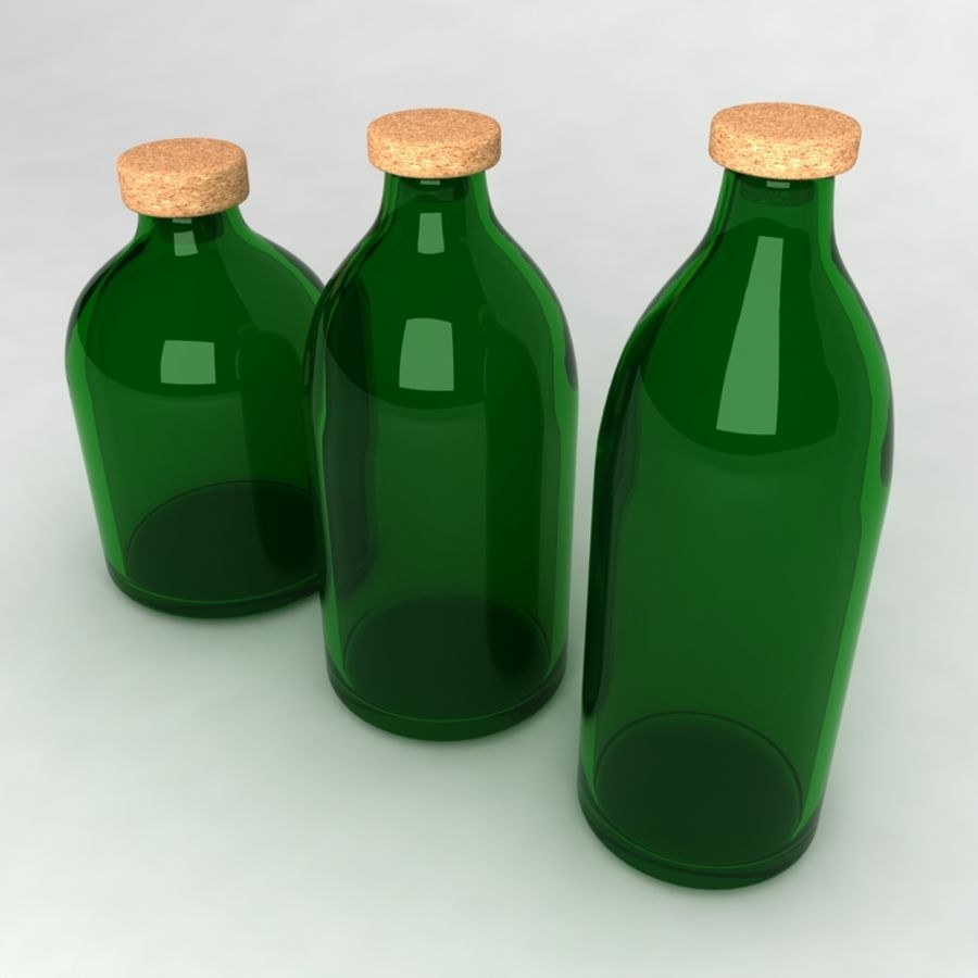 Bottles Collection royalty-free 3d model - Preview no. 9