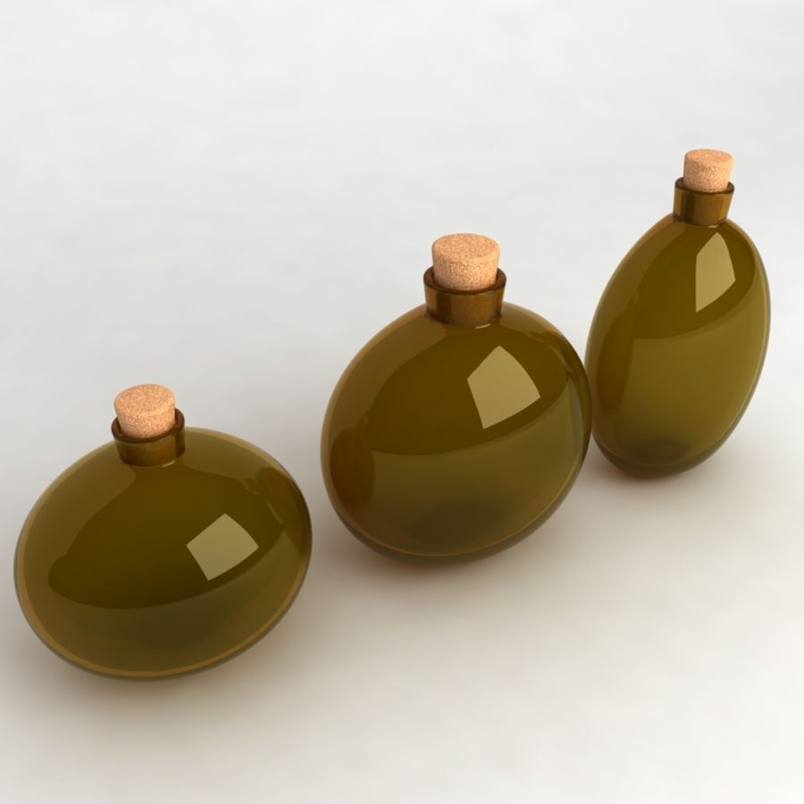 Bottles Collection royalty-free 3d model - Preview no. 20