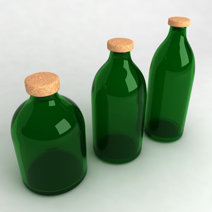 Bottles Collection royalty-free 3d model - Preview no. 8
