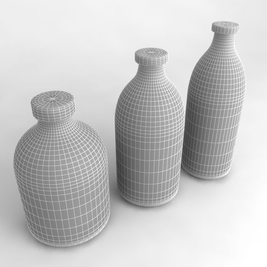 Bottles Collection royalty-free 3d model - Preview no. 38
