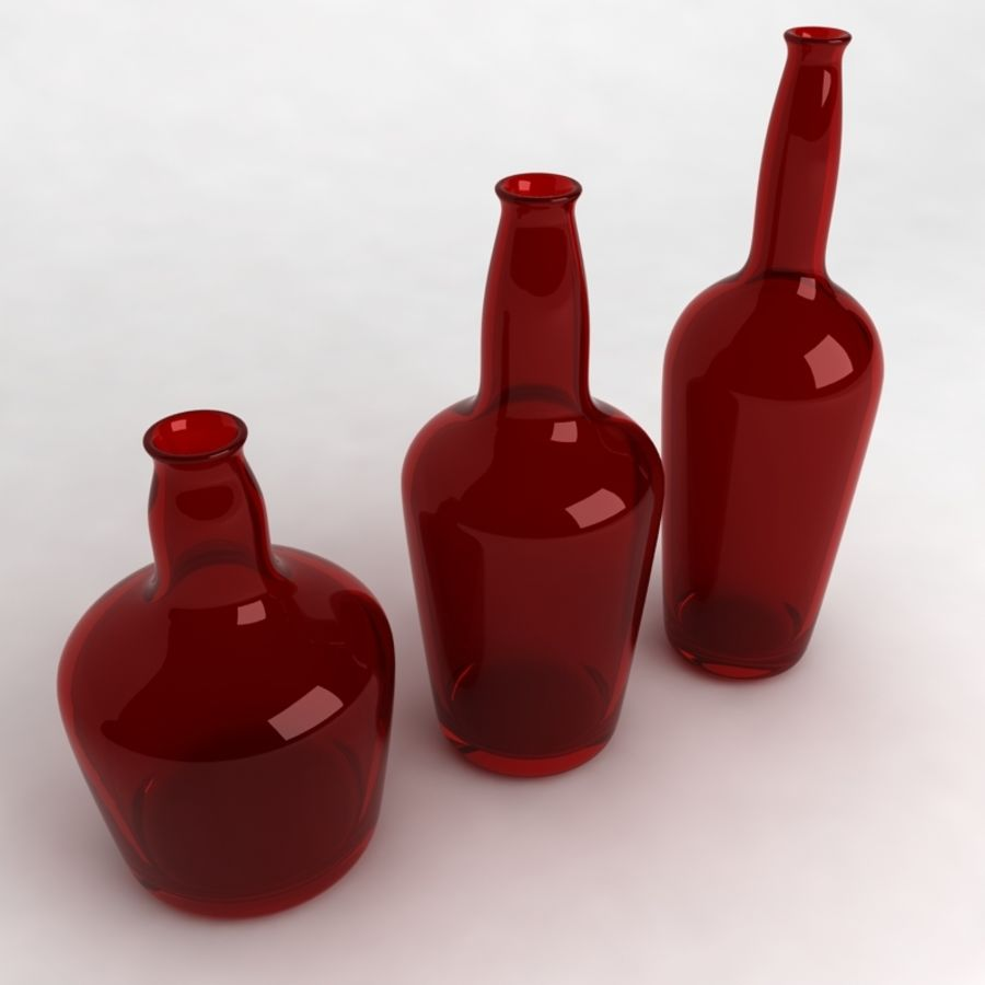 Bottles Collection royalty-free 3d model - Preview no. 23