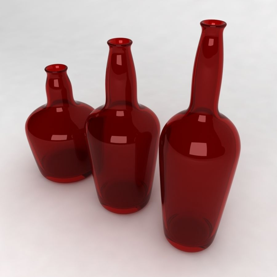 Bottles Collection royalty-free 3d model - Preview no. 24