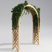 Arbor with ivy 3d model