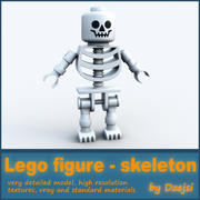 Personaggio lego - scheletro 3d model
