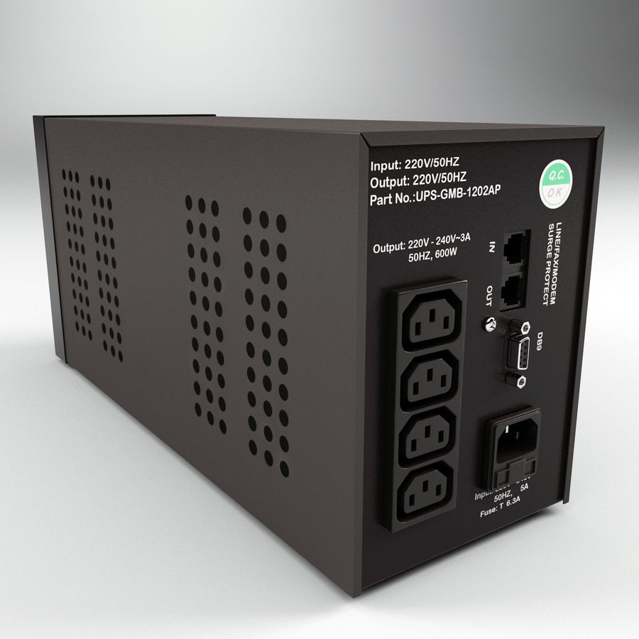 UPS CyberPower royalty-free 3d model - Preview no. 3