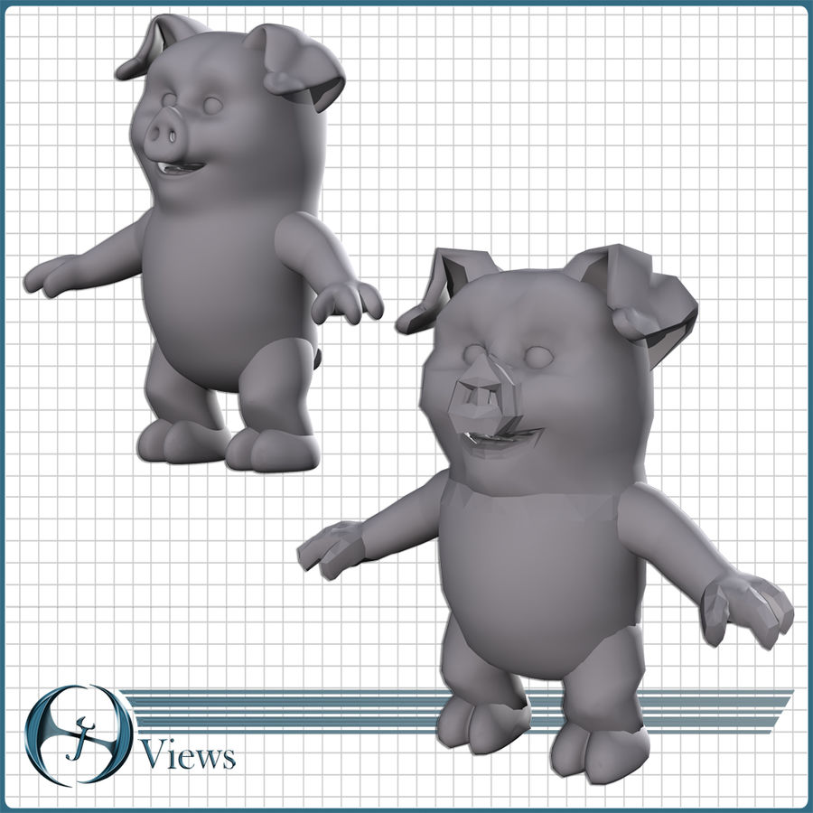 Pig royalty-free 3d model - Preview no. 18