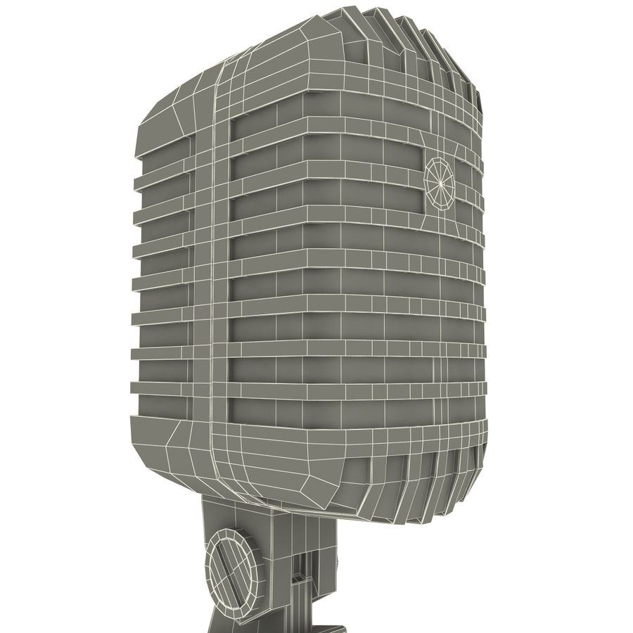 Retro Microphone royalty-free 3d model - Preview no. 18