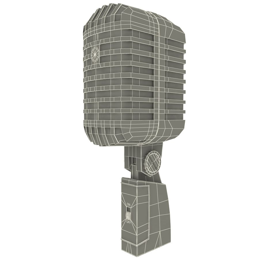 Retro Microphone royalty-free 3d model - Preview no. 15