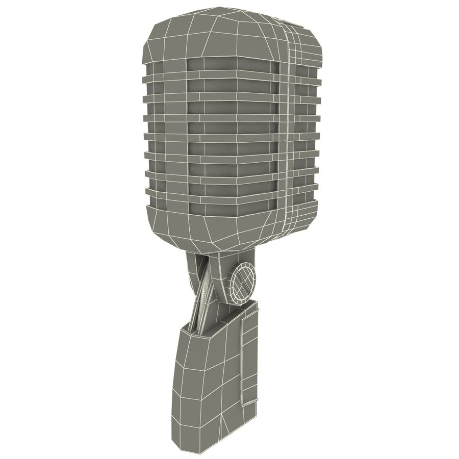 Retro Microphone royalty-free 3d model - Preview no. 16