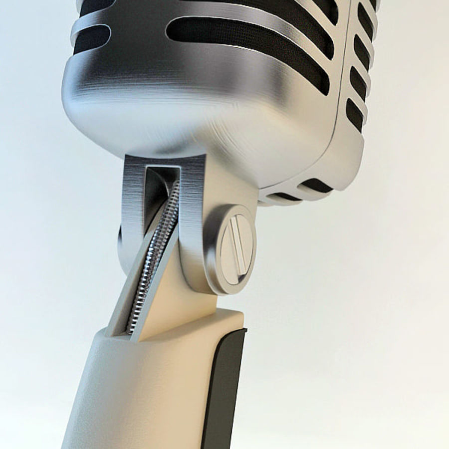 Retro Microphone royalty-free 3d model - Preview no. 11