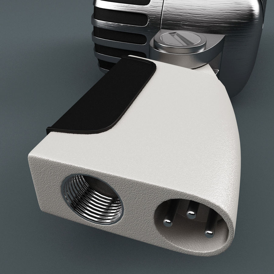 Retro Microphone royalty-free 3d model - Preview no. 14