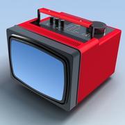 Stary przenośny telewizor.MAX 3d model