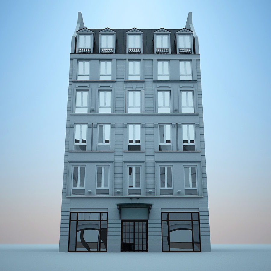 Hotel europeu royalty-free 3d model - Preview no. 1