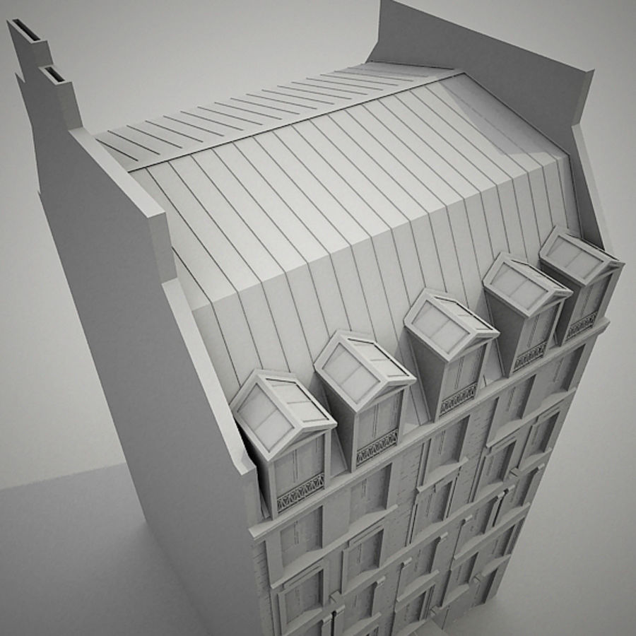 Europees hotel royalty-free 3d model - Preview no. 15