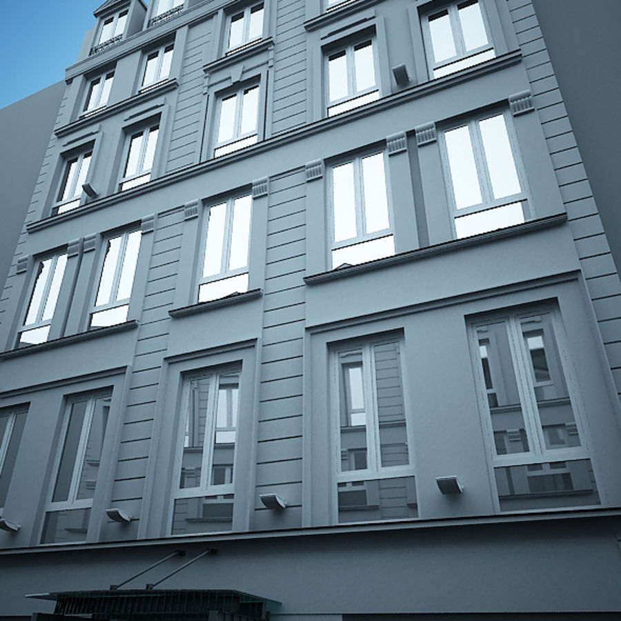 Europees hotel royalty-free 3d model - Preview no. 3
