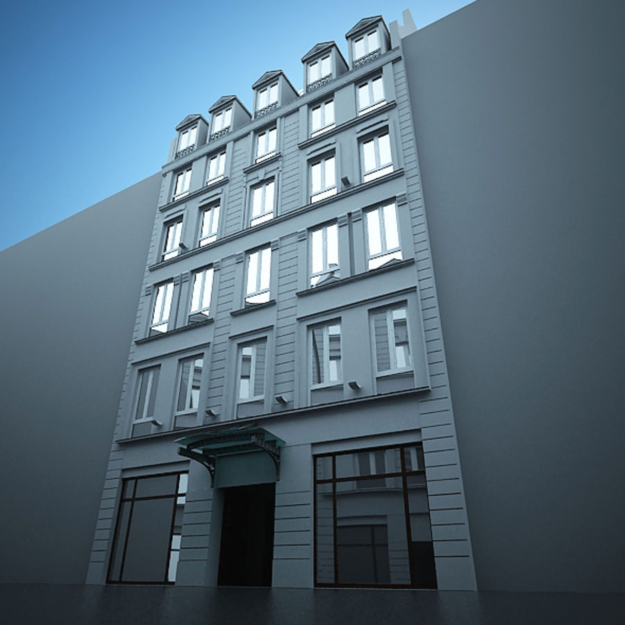 Hotel europeu royalty-free 3d model - Preview no. 6