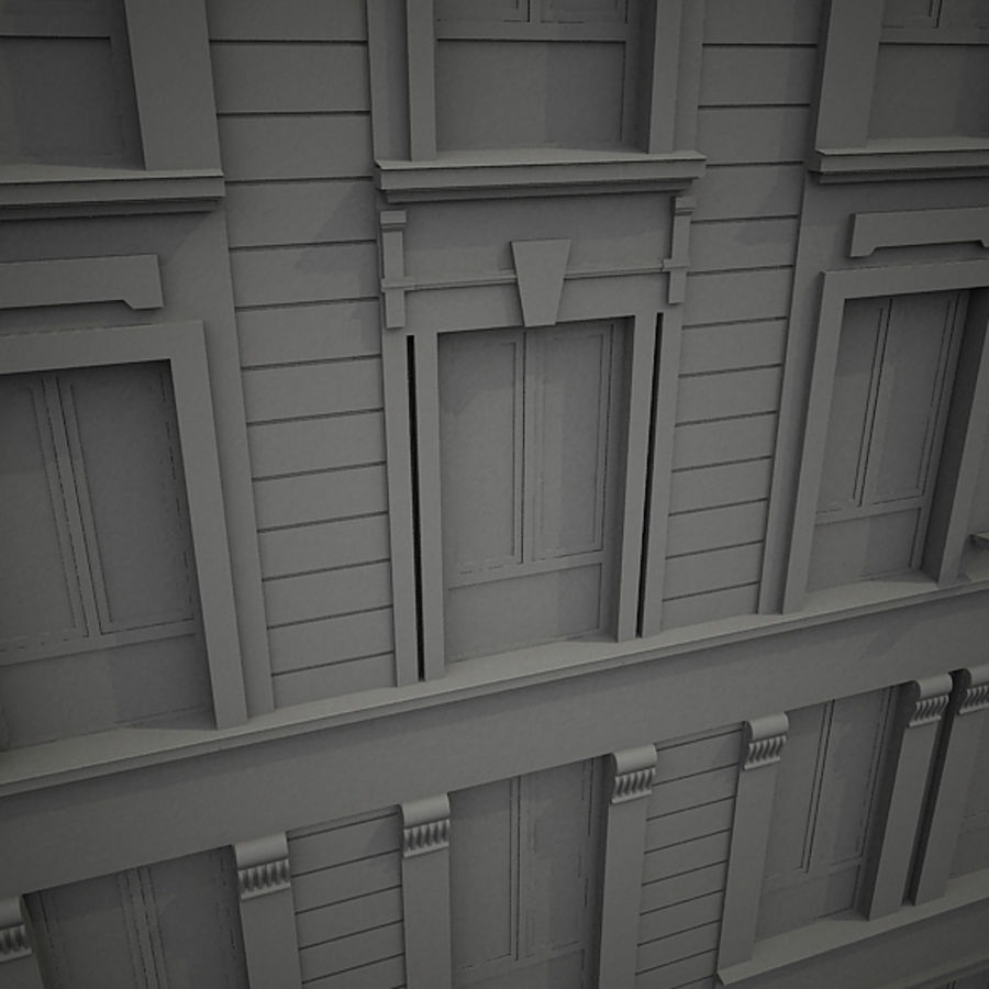 Europees hotel royalty-free 3d model - Preview no. 11