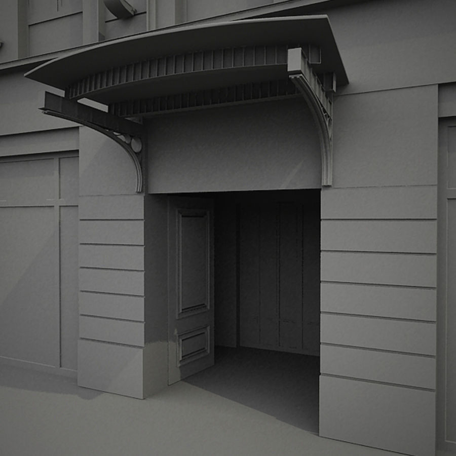 Europees hotel royalty-free 3d model - Preview no. 13