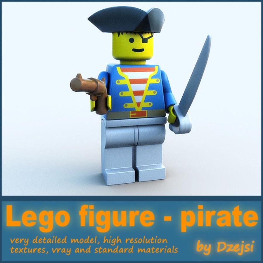 レゴキャラクター - 海賊 royalty-free 3d model - Preview no. 1