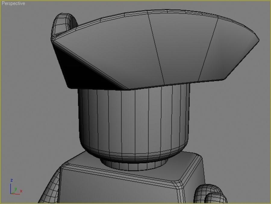 レゴキャラクター - 海賊 royalty-free 3d model - Preview no. 5