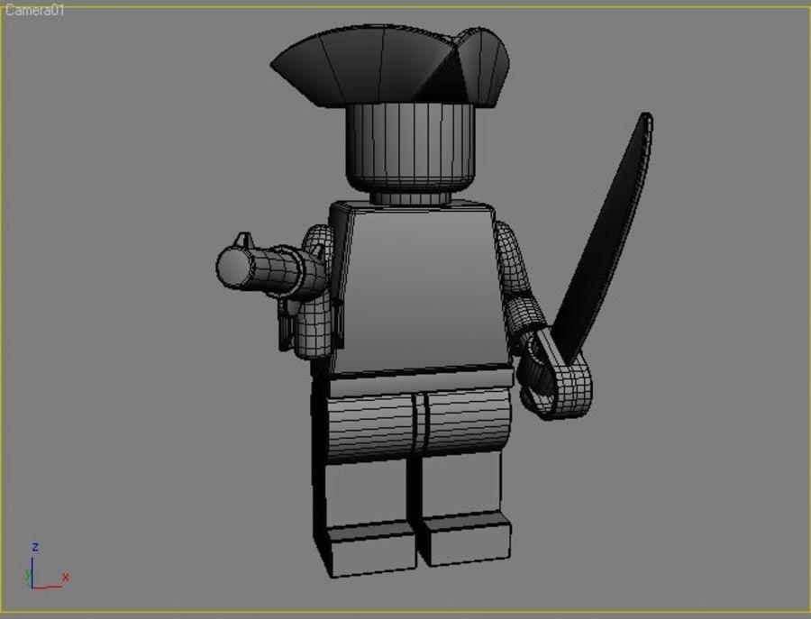 レゴキャラクター - 海賊 royalty-free 3d model - Preview no. 4
