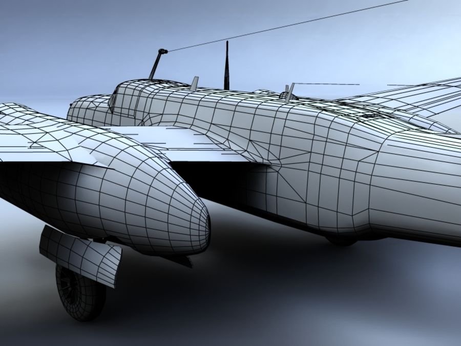 A-26K Counter Invader royalty-free modelo 3d - Preview no. 12