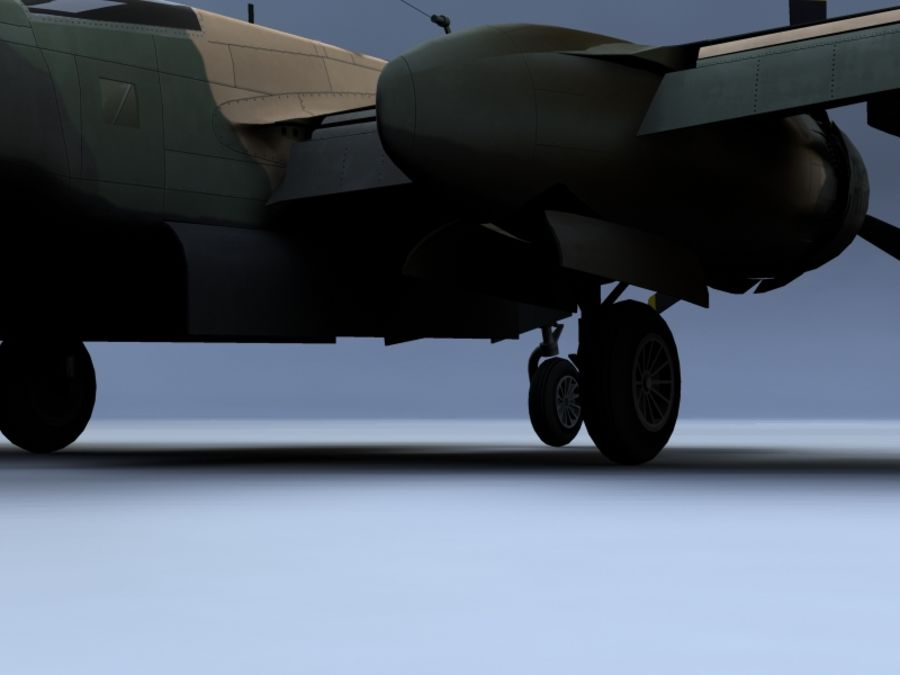 A-26K Counter Invader royalty-free modelo 3d - Preview no. 8