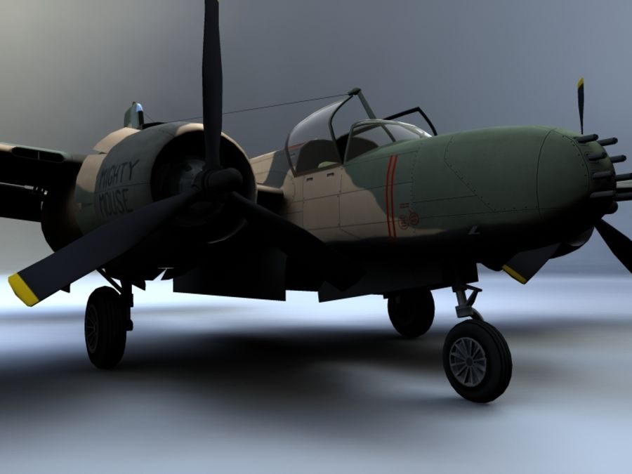 A-26K Counter Invader royalty-free modelo 3d - Preview no. 5