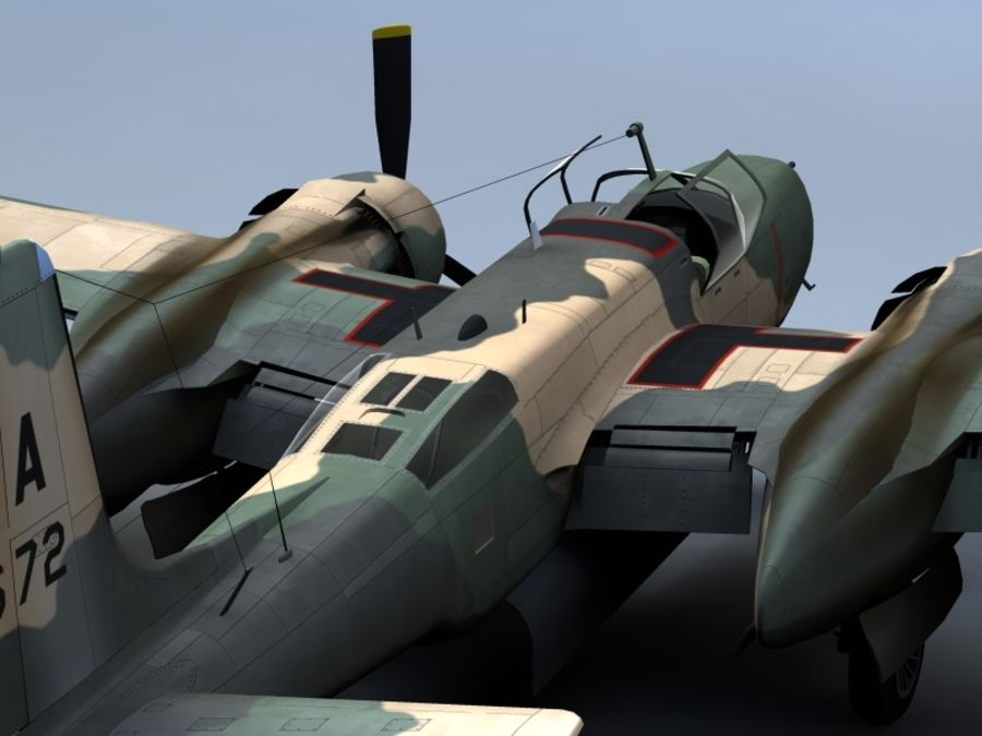 A-26K Counter Invader royalty-free modelo 3d - Preview no. 6