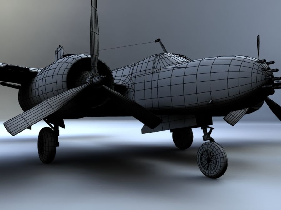 A-26K Counter Invader royalty-free modelo 3d - Preview no. 13