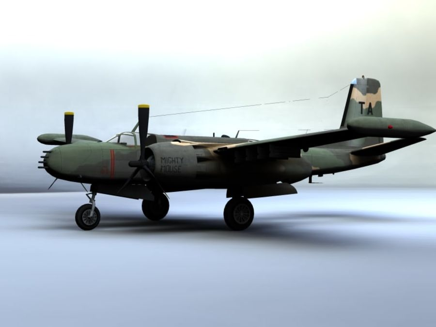 A-26K Counter Invader royalty-free modelo 3d - Preview no. 4