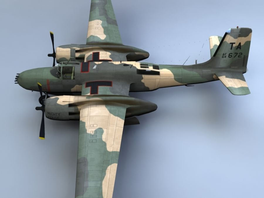 A-26K Counter Invader royalty-free modelo 3d - Preview no. 7