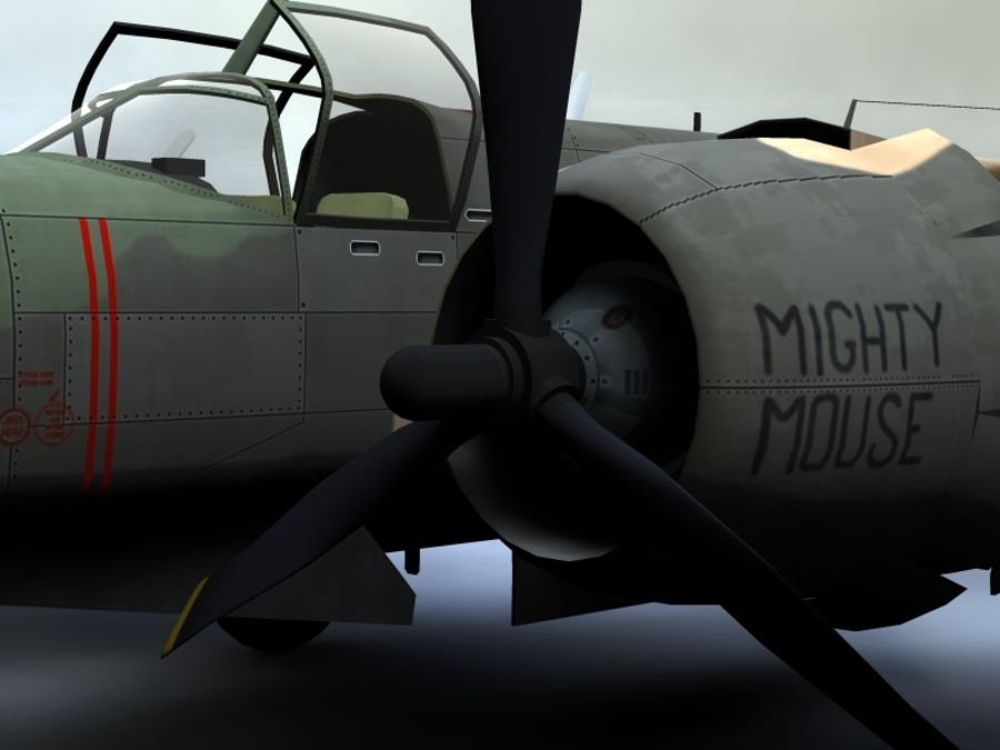 A-26K Counter Invader royalty-free modelo 3d - Preview no. 9
